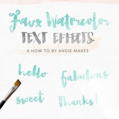 How to Make a Watercolor Text Effect Design for FREE in Photoshop | angiemakes.com