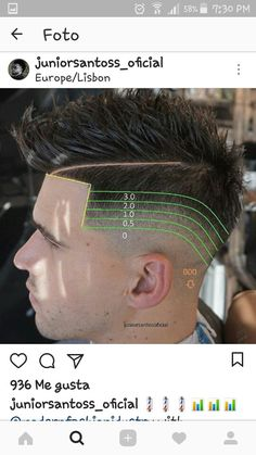 Barber Cortes Haircut For Face Shape, Fade Haircut, Barber Haircuts, Haircuts For Men, Undercut Hairstyles, Hairstyles Haircuts, Short Hair Cuts, Short Hair Styles, Barber Man