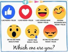 Some Friday Fun... These emojis are perfect to describe the Rodan + Fields experience!! Which one are you?? Message me to start aging backwards!!