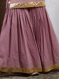 Mauve Cotton Gota Sharara Indian Dresses, Indian Outfits, Indian Designer Suits, Designer Kurtis, Kurti Embroidery Design, Embroidery Stitches, Sarara Dress, Gharara Pants, Sharara Designs