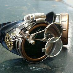 Steampunk victorien lunettes aviateur victorienne soudage biker bonnettes--gcg