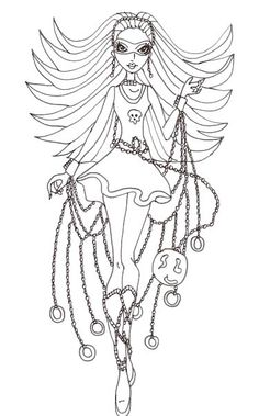 Ghoulia Yelps Feel Very Happy Coloring Pages - Monster High Coloring ...