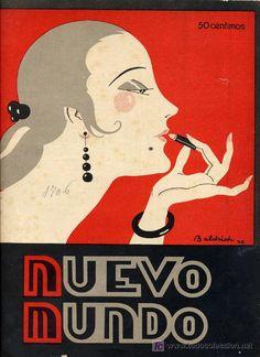 """Nuevo Mundo"" magazine, 1926 - Cover illustration by Spanish illustrator Robert Martínez i Baldrich a.k.a. Baldrich (1895-1959)"