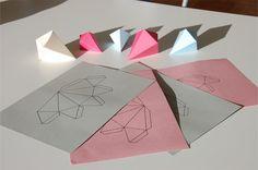DIY - Papierdiamanten