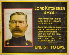 English School: #Lord #Kitchener Says... #Enlist Today, 1915  Framed (ref: 5998) Published by The Parliamentary Recruiting Committee, #London, poster no 117,  Printed by David Allen & Sons #poster #lordkitchener #army #war #Britishart #modernart #llfa British Army, A0 Poster, Wwi, First World, New Image, 500 Piece Puzzles, World War, The Twenties, Poster Size Prints