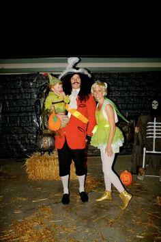 Halloween Family Costume: Peter Pan! Hook, Peter Pan and Tink!