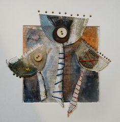 'Three of a kind'  by Louise O'Hara of DrawntoStitch www.drawntostitch.com