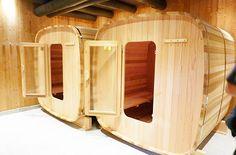 Sauna bois carré