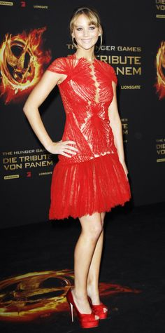 Jennifer Lawrence's Best Hunger Games Red Carpet Looks - Berlin Premiere, March 2012
