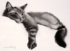 "Saatchi Art is pleased to offer the drawing, ""Contentment,"" by Soo Beng Lim, available for purchase at $500 USD. Original Drawing: Paper on Ink. Size is 10.6 H x 14.6 W x 0 in."