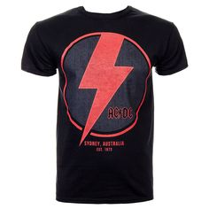 T-shirts Herrenmode Ac/dc High Voltage Guitar T-shirt