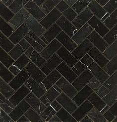 brick floor herringbone dark | ... out this cute little white Carrara marble herringbone. Also Ann Sacks