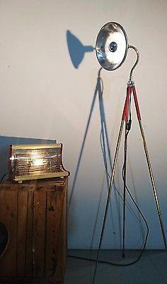 Tripod Arzt Art Deco Foto Stativ Steh Tisch Schwanenhals Lampe Design Vintage