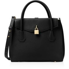 Michael Michael Kors Studio Mercer Large All In One Satchel (£308) ❤ liked on Polyvore featuring bags, handbags, michael michael kors purse, satchel purses, handbag satchel, satchel bag and michael michael kors