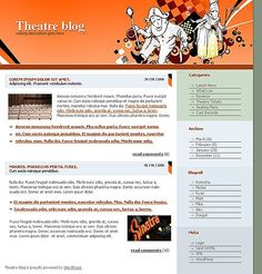 Theatre Blog WordPress Themes by Di Website Template, Wordpress Theme, Theatre, Entertainment, Templates, Blog, Models, Theater, Template