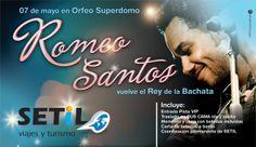 Romeo Santos se presentó en Córdoba en mayo del 2014 y Setil Viajes llevaba a sus clientes a verlo. Nuevamente, Estudio Rocha & Asociados de San Francisco (Córdoba) creo un flyer promocionando el viaje. ¡El colectivo salió completo al show!