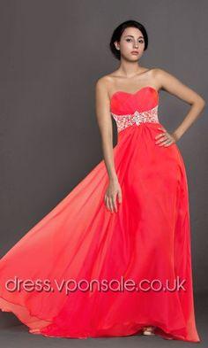 Sweetheart Neckline Flowy Long Prom Dress DVP0103