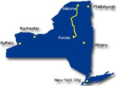 Malone is part of 2 NYS scenic byways. One is the Adirondack Trail