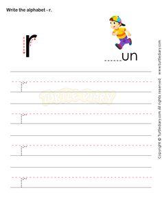 Small Letters R - esl-efl Worksheets - kindergarten Worksheets