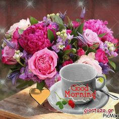 Good Morning Wishes Gif, Good Night Greetings, Good Morning My Love, Morning Greetings Quotes, Good Morning Coffee, Good Morning Picture, Good Morning Messages, Good Morning Good Night, Good Morning Images Flowers