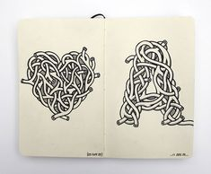 """Andy Gosling. A heart and the letter """"A"""", created from interwoven arteries."""