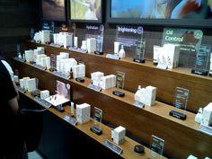 Jurlique Luxury Organic Natural Cosmetics Skincare Signage Cool Silkscreen Colored Bar Backlit Led Lighting Display POS POP Yamei Group