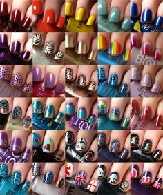 So many different nail designs