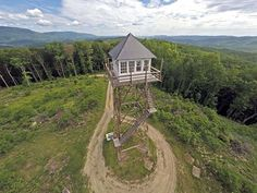 A former fire lookout tower. In Wv, Now you can stay here, what a view