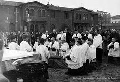 Ceremonia de colocación de la primera piedra de la Iglesia de San José de Romo, 1956 (Cedida por Karla Llanos) (ref. 06994)