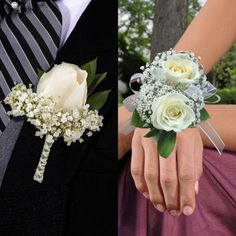 Boutonnieres & Wrist Corsages, 8 Boutonnieres and 8 Wrist CorsagesPlease Choose Color From Drop BoxAll Orders Require A Preferred Arrival Date At CheckoutFlowers Ship Fresh Directly From Farm To Member Mother Of Bride Corsage, Wrist Corsage Wedding, Prom Corsage And Boutonniere, Bridesmaid Bouquet, Wedding Bouquets, Wrist Corsage Diy, Mother Of The Bride Bouquets, Bullet Boutonniere, White Corsage