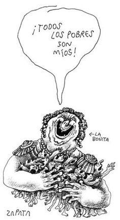 Caricatura de Zapata (PEDRO LEON ZAPATA ARCHIVO EL NACIONAL) Publicada 10 de enero de 2005