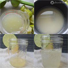 Concentrado para limonada (Jarabe de limón) - Cómo hacer una limonada mineral y natural fácil www.pizcadesabor.com