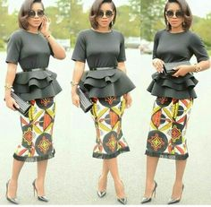 Collection of the most beautiful and stylish ankara peplum tops of 2018 every lady must have. See these latest stylish ankara peplum tops that'll make you stun African Dresses For Women, African Print Dresses, African Attire, African Wear, African Women, African Prints, African Style, African Fashion Designers, African Men Fashion