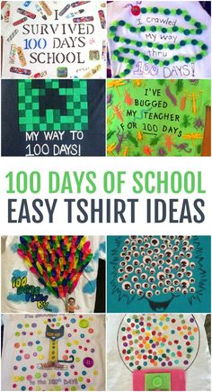 Easy 100 Days of School Shirt Ideas - - The day of school tends to sneak up on us every year. Plan ahead with these 100 days of school shirt ideas to fit any kid's personality. 100 Day Project Ideas, 100 Day Shirt Ideas, 100 Day Of School Project, First Day Of School, School Days, School Projects, Kindergarten Projects, Diy Projects, School Spirit Shirts