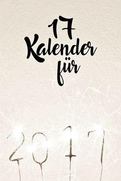 DIY | kostenlose Kalender für 2017 zum ausdrucken Diy Calendar, Free Printable Calendar, Printable Paper, Free Printables, Diy Papier, Filofax, Scandinavian Style, Getting Organized, Planer