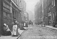 The Real Whitechapel - Ripper Street, late - Dorset Street was so dangerous that police dare not enter in no less than groups of four. Victorian London, Vintage London, Victorian Life, Victorian Era Facts, Victorian Houses, Edwardian Era, Old London, East End London, London History