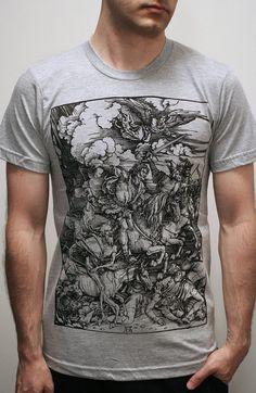 Albrecht Durer - Four Horsemen of the Apocalypse - Mens tshirt / Unisex T shirt ( Albrecht Durer Mens t shirt ).
