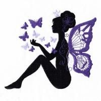 Beautiful fairies to add enchantment to your projects. Fairy Silhouette, Silhouette Painting, New Embroidery Designs, Embroidery Art, Embroidery Stitches, Painted Rocks Craft, Fairy Crafts, Fairy Pictures, Quilling Patterns