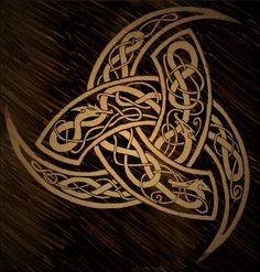 The Triple Horn of Odin, symbolising Creation, Preservation and Destruction... Or Birth, Life and Death.