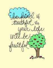 Fruitful Art Print http://doodlidos.myshopify.com/collections/word-art-prints?page=3#