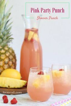This pink party punch recipe is the perfect addition for a brunch or shower. It'… This pink party punch recipe is the perfect addition for a brunch or shower. It's non alcoholic so it is perfect for guests of all ages. Alcoholic Punch Recipes, Party Punch Recipes, Brunch Punch Non Alcoholic, Pink Punch Recipes, Non Alcoholic Drinks For Baby Shower, Wedding Punch Recipes, Summer Punch Recipes, Easy Party Recipes, Spiked Punch Recipes