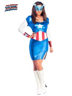 Women's Sexy Miss American Dream Costume | Wholesale SuperHeroes Costumes for Adults