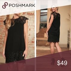 Little Black Dress 100% rayon exclusive of lace detail Dresses