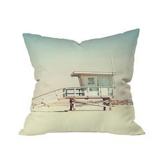 The Brighton Beach Throw Pillow is a tribute to the legions of brave souls who've made ocean swimming safe for all of us. It's also a really cool rendition of a lifeguard shack with a vintage vibe. Rev...  Find the Brighton Beach Outdoor Throw Pillow, as seen in the Beach House Getaway  Collection at http://dotandbo.com/collections/beach-house-getaway?utm_source=pinterest&utm_medium=organic&db_sku=105604