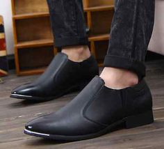 Shoes Mens Occupation Leather Fashion Casual Trend Slip On Flats Dress S23 | eBay