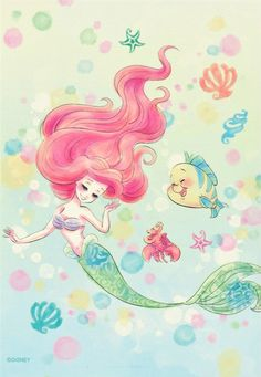 The Little Mermaid (japanese notebook)