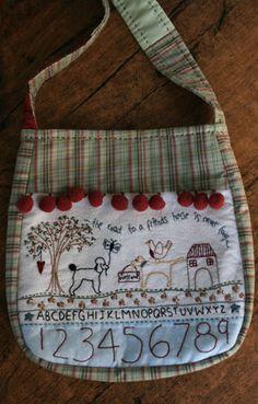 Friends House Bag da Lynette Anderson - Schemi Punto Croce - Ricamo - Casa Cenina