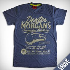 size L  V009Dexter Morgan  Heather Dark Blue   Unique by VHAVE, $15.95  Christmas idea