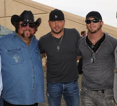 Colt Ford, Jason Aldean & Brantley Gilbert :) OMG! :) Two amazingly hot guys in the sane pic!!!