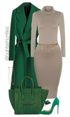 Green by highfashionfiles on Polyvore featuring polyvore fashion style WearAll Christian Louboutin ASOS Dean Harris Vanessa Mooney women's clothing women's fashion women female woman misses juniors #WomensFashion